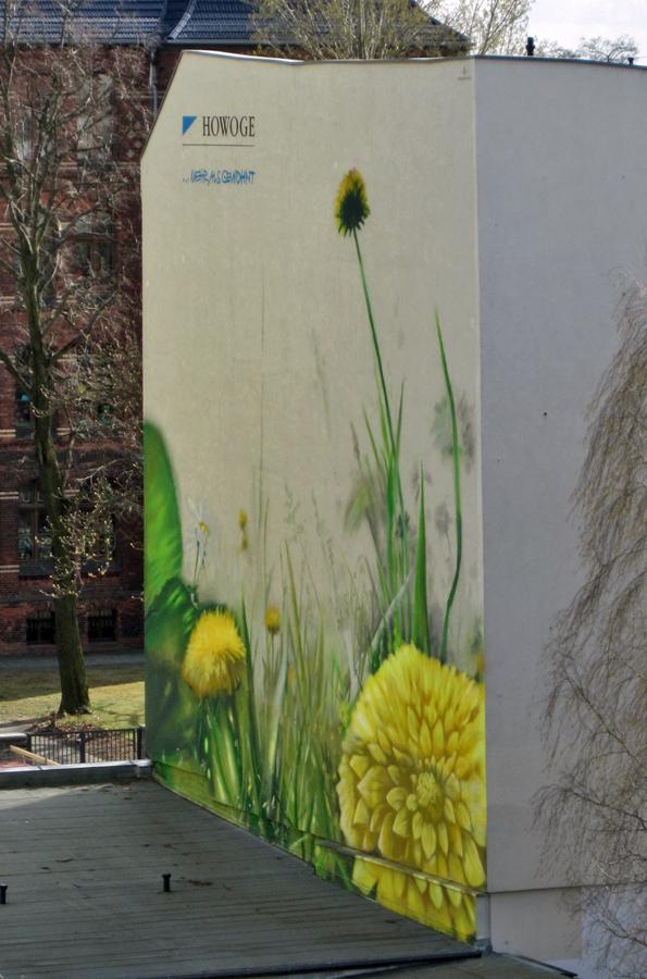 Tofu with dandelion greens and ginger mythological quarter for Dandelion mural