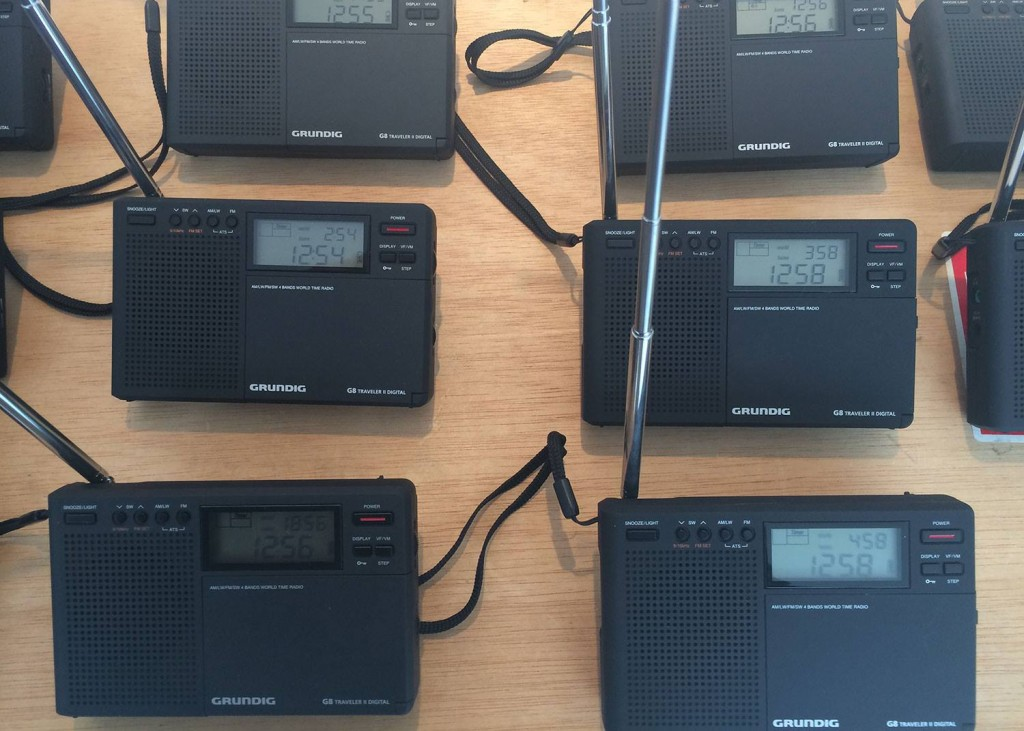 Radios provided for the public